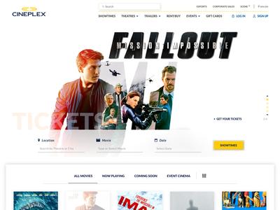 Cineplex Homepage Concept