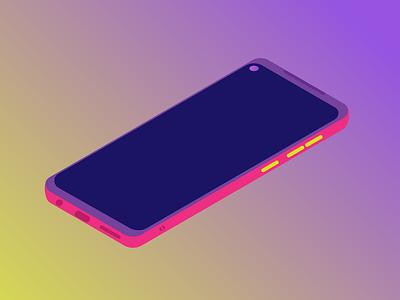 My phone design vector graphic design illustration