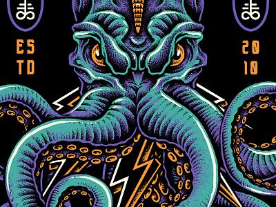 Electropus bodilpunk band apparel clothing merchandise bandmerch illustration drawing metalcore skull octopus