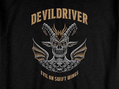 Black Devil rock metal pointillism bandmerch artwork tattoo merchandise teedesign bodilpunk illustration drawing