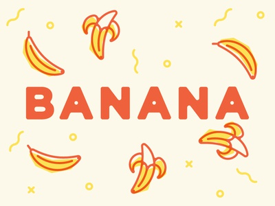30 Minute Challenge  fruit icon icons multiply print design banana
