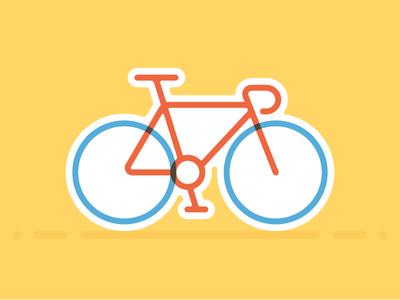 Tour de Mule two color screen print multiply tour de francem france bicycle bike icon sticker playoff