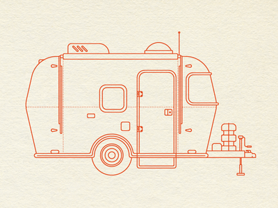 30 Minute Challenge (Camping) trailer camper airstream illustration camping