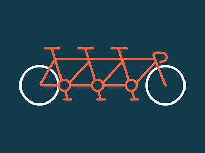 Teamwork. It Makes Dat Dream Work. team bicycle contest cruise ride 2 color tandem bike bike teamwork
