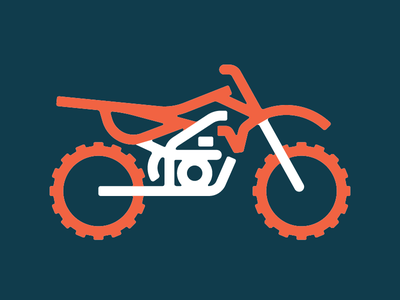 Braaap. minimal 2 colors bike wheels logo icon motorcycle dirt bike