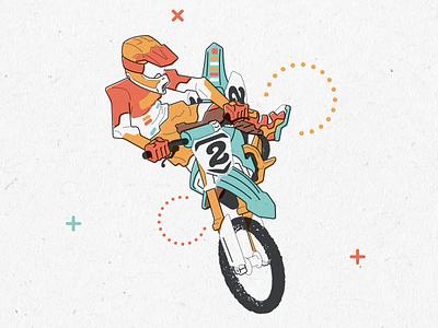 Whip it good illustration jump dirt bike supercross motocross