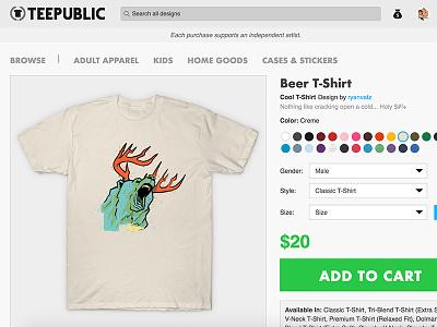 Beer for Sale animal tshirt teeshirt deer bear