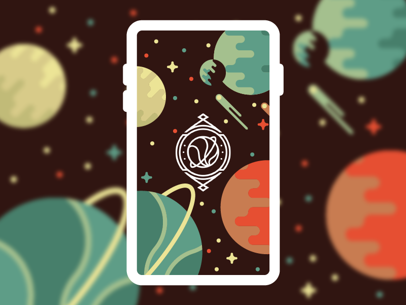 The Final Frontier icon stars planets ux ui space