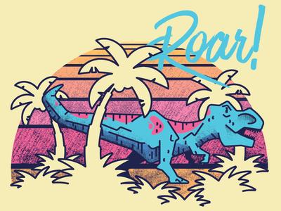 Roar retro vintage t-rex trex dinosaur dino