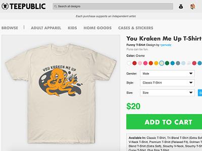 You Kraken Me Up ship octopus sea kraken t-shirt tshirt