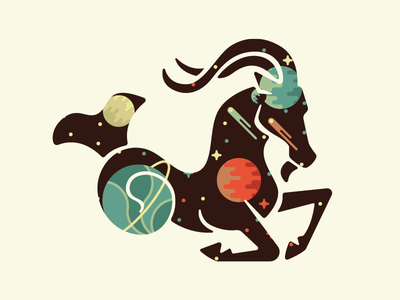 30 Minute Challenge (Astrology) goat thing logo stars space capricorn astrology