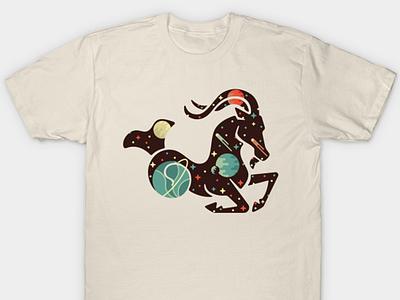 Capricorn Shirt goat thing logo stars space capricorn astrology