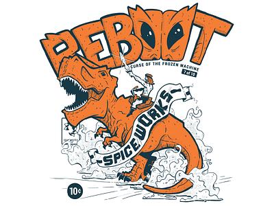 Reboot comic poster drawing illustration