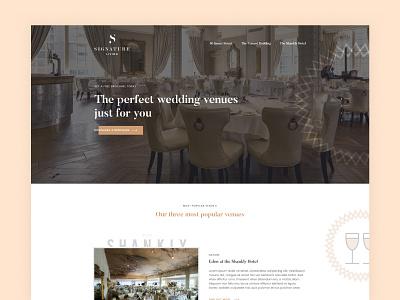 Wedding Venues website minimal icons ux ui venue wedding landing page
