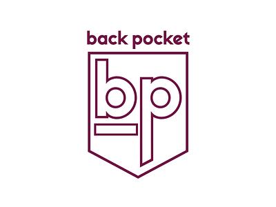 Back Pocket Denim Logo icon logo design logo branding design typography illustration branding design