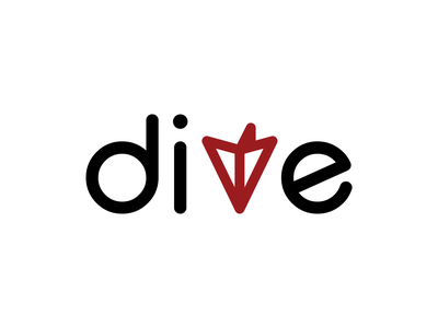 Dive Logo Design typography vector logo illustration branding design