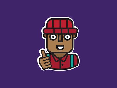 Odero App 'All Ok' Whatsapp sticker. sticker design whatsapp sticker vector illustration design