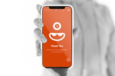 Odero App Splash Screen Mockup