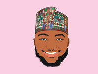 African Man Vector Portrait