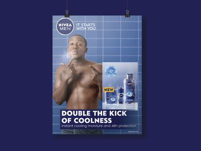 NIVEA MEN Cool Kick Poster