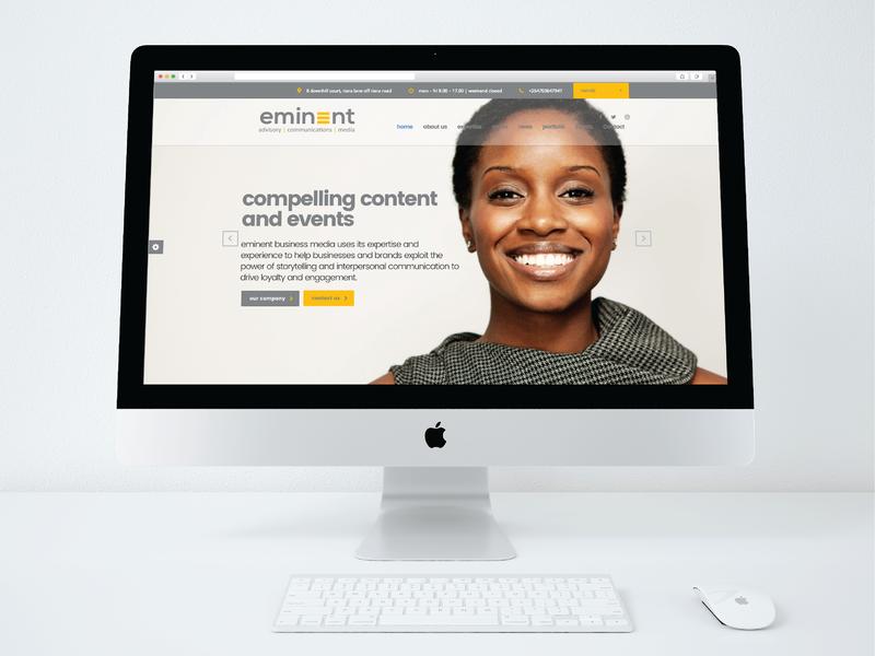Eminent Website Design landing page website webdesign