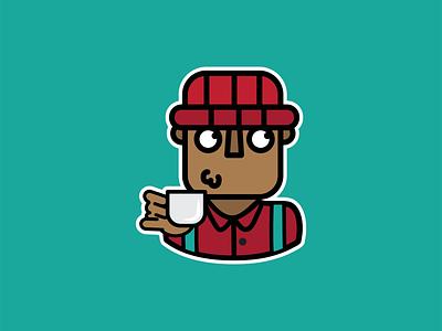 Odero App 'Sips Tea' Whatsapp sticker whatsapp sticker whatsapp sticker design illustration design