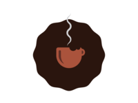 Afro Coffee Logo Design
