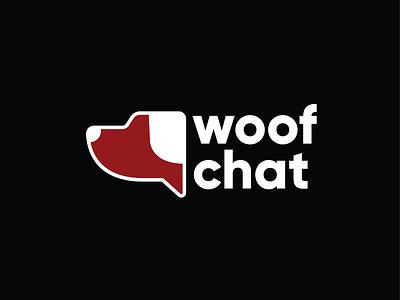 Woof Chat Logo logo design branding illustration logodesign