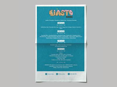 Ciasto Cakes Price List menu design price list poster design
