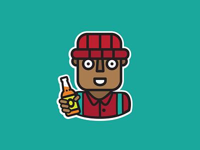 Odero App 'Cheers' Whatsapp sticker. sticker design sticker whatsapp sticker illustration design