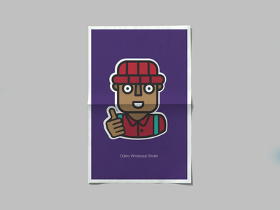 Odero App 'All Good' Whatsapp sticker. african vector minimal flat animation app icon ui sticker design design illustraion