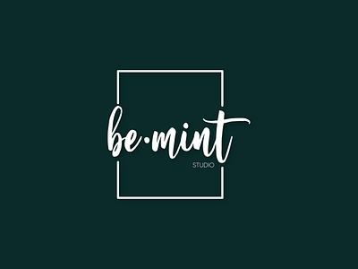 Be•Mint Studio Logo Design typography icon logo branding design logo design branding design