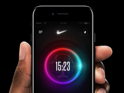 Nike Air Mag - Power Lights App iphone 7 app ui ux ui sneaker power lights power laces nike microsite interaction back to the future air mag