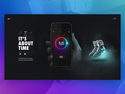 Nike Air Mag - App shoes power laces back to the future power lights compare sneaker interaction ui  ux assets microsite air mag nike