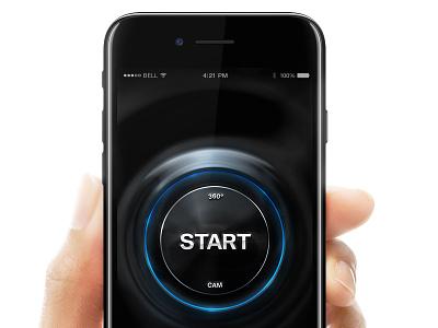 360 Cam - Start Button iphone 7 bevel emboss glow light pulse circle button 360 cam