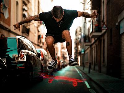 Skate experimental digital glitch boy skate skateboard