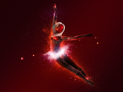 Dance of the Planets: Mars fire dancing body women ballet dust rings mars fly atmosphere stars astronaut planets galaxy