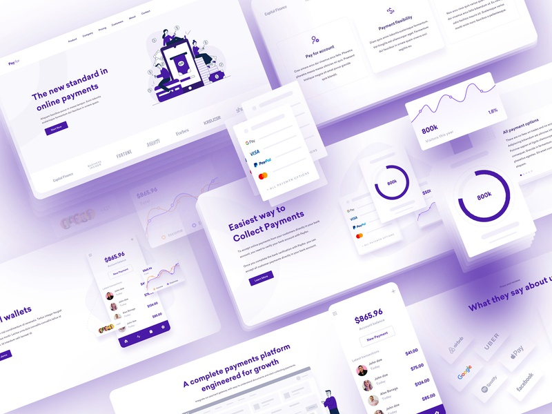 Pay For Landing Page user experience influencers finance website online shopping online payment banking landing page currency finance payment branding mobile interaction illustration ux ui financial services fintech crypto currency crypto