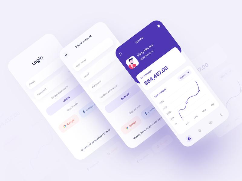 Financial App fintech wallet wealth management statistics branding chart marketplace banking app industry money app financial advisor interface animation ui budget finance app