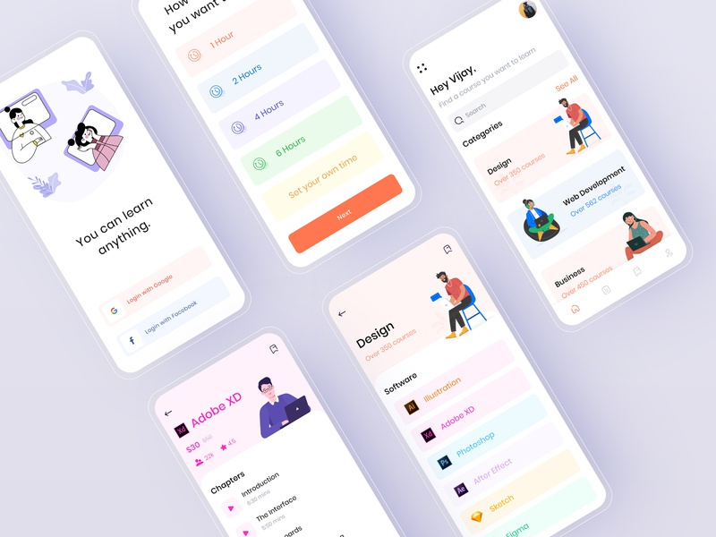 Learning Mobile App mobileapps digital learning exam learning resource onboarding e-learning animation online traning online course digital classroom learning app courses online learning app