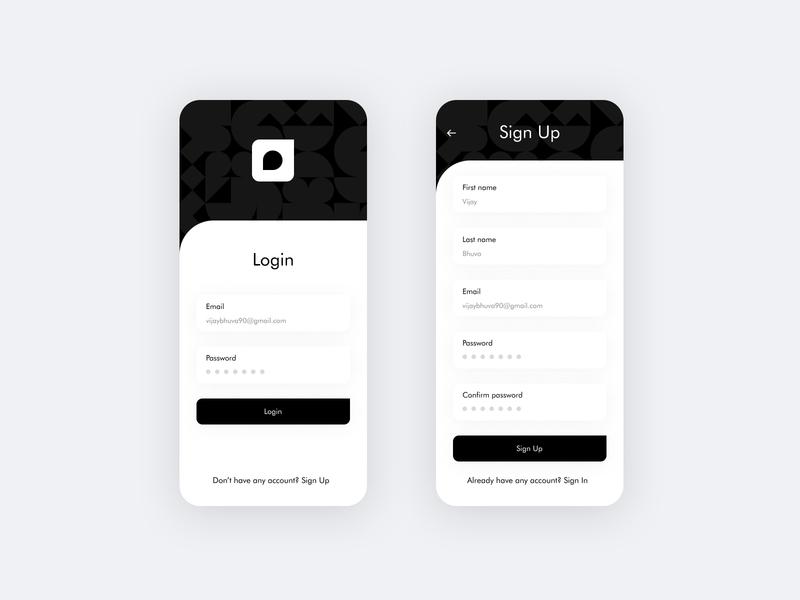 Sign up / Login UI mobile app ios sign in fintech minimal logo animation interaction illustration ui login