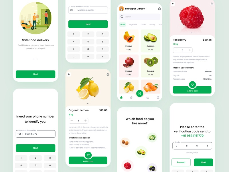 Grocery Store App grocery online e commerce fruit shopping app ios illustration food app food mobile animation grocery delivery ui store