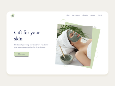 Cosmetic Landing page shopping makeup minimal products beauty ecommerce shopify theme shopify web landingpages ux ui