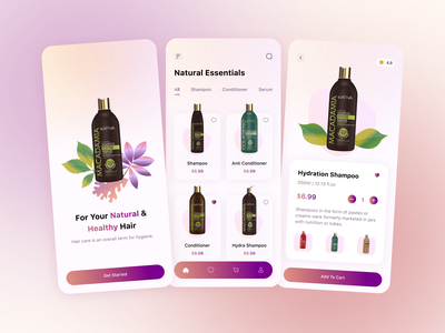 Beauty Shop App typography organic natural products clean design e-commerce branding skincare app interaction mobile design beauty app ui