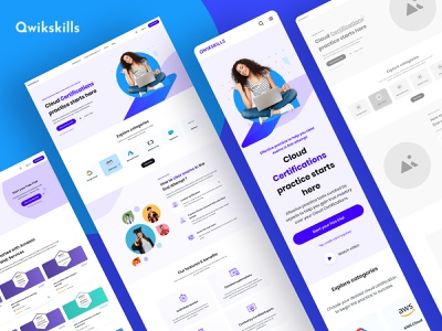 Qwikskills Website [Live] 🔥 interaction learning management system education platform ux website e-learning education courses language school app branding language learning onlinecourse student technology onlineexams awscertified cloudcertification qwikskills ui