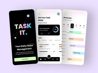 Task Management App interface concept branding iosapp appdesign work todoapp animation management app todolist ui app interaction task