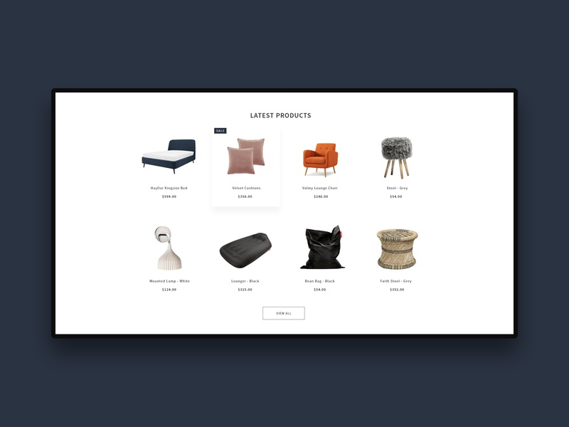 Furniture Theme xd homepages home decor layouts e-commerc interior furniture design minimal styles theme