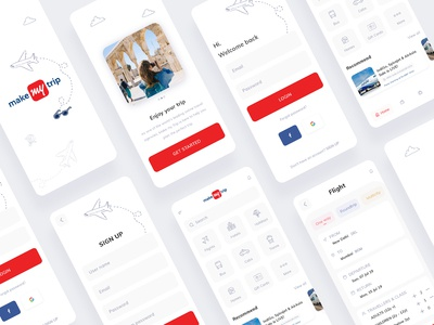 Makemytrip app redesign