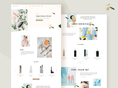 Beauty Product Landing Page