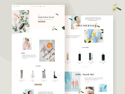 Beauty Product Landing Page beauty care ecommerce minimalist homepage brand shopify beauty app interaction ui beauty salon beauty product